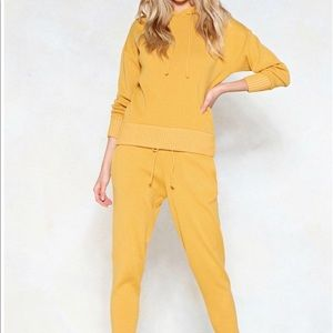 Two piece knitted sweatsuit